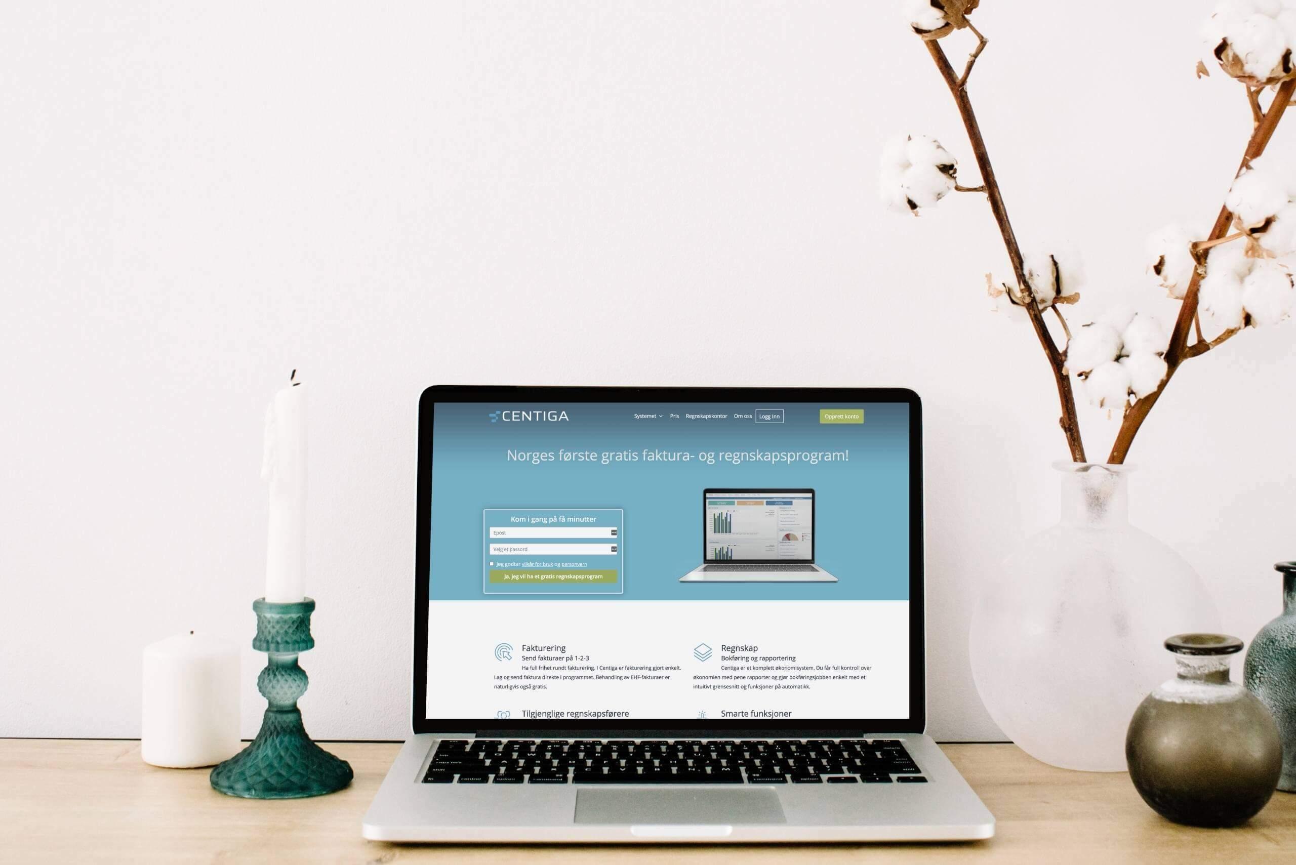 I fakturaprogrammet Centiga kan brukerne lage gratis faktura.