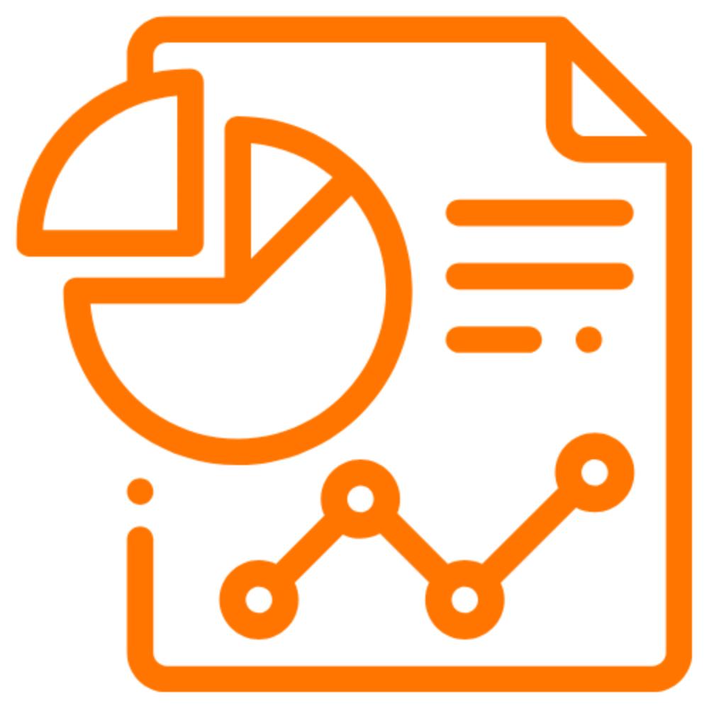 Et ikon som illustrerer regnskap for små bedrifter.